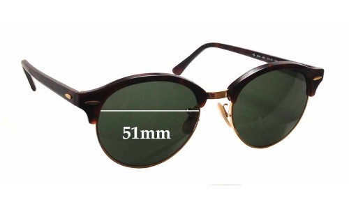 Sunglass Fix Sunglass Replacement Lenses for Ray Ban RB4246 - 51mm wide