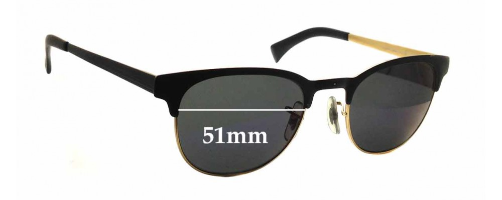 Sunglass Fix Sunglass Replacement Lenses for Ray Ban RB6317 - 51mm Wide x 40.5mm Tall