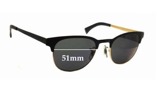 Sunglass Fix Sunglass Replacement Lenses for Ray Ban 6317 RB6317 - 51mm wide x 40.5mm tall