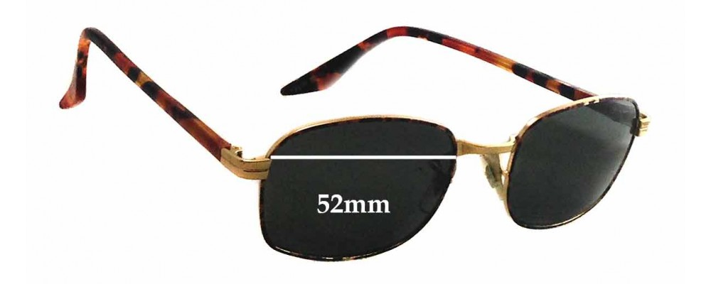 Sunglass Fix Sunglass Replacement Lenses for Ray Ban B&L W2190 - 52mm Wide