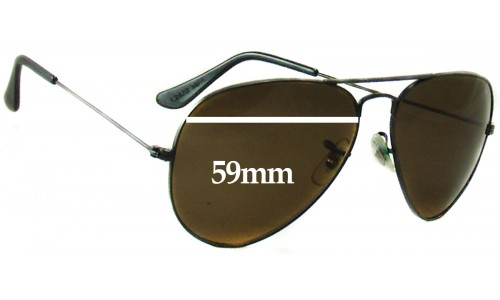 Sunglass Fix Sunglass Replacement Lenses for Ray Ban B&L Aviator L2823 - 59mm Wide