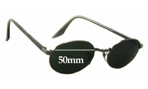 Sunglass Fix Sunglass Replacement Lenses for Ray Ban Bausch Lomb W2896 - 50mm Wide