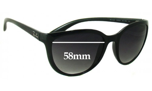 Sunglass Fix Sunglass Replacement Lenses for Ray Ban RB4167 Emma - 58mm wide
