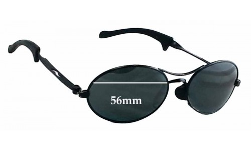 Sunglass Fix Sunglass Replacement Lenses for Ray Ban Predator Wrap - 56mm Wide
