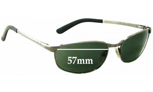 Sunglass Fix Sunglass Replacement Lenses for Ray Ban RAM2062AA - 57mm wide X 34mm