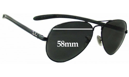 Sunglass Fix Sunglass Replacement Lenses for Ray Ban RAM4271AC - 58mm Wide