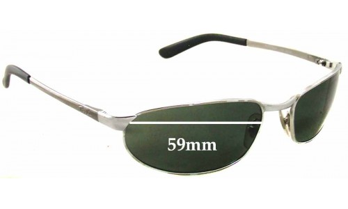 Sunglass Fix Sunglass Replacement Lenses for Ray Ban RAM2062AA - 59mm wide x 32mm tall