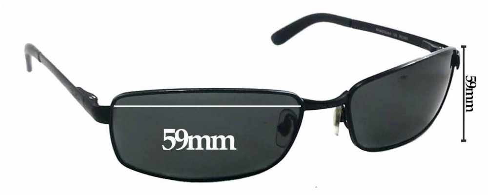 Sunglass Fix Sunglass Replacement Lenses for Ray Ban RAM2062AA - 59mm Wide X 33mm