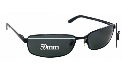 Sunglass Fix Sunglass Replacement Lenses for Ray Ban RAM2062AA - 59mm wide X 32mm