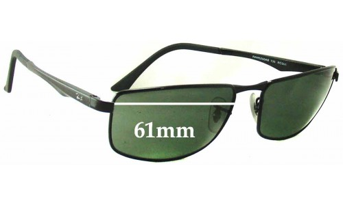 Sunglass Fix Sunglass Replacement Lenses for Ray Ban RAM 5200AB - 61mm Wide