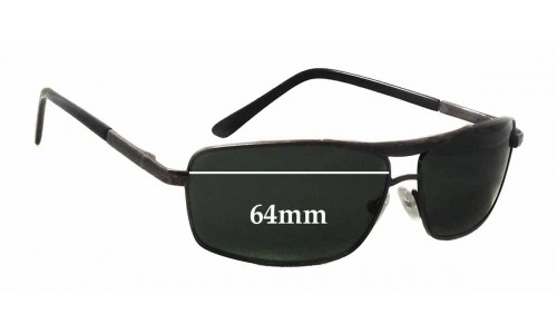 Sunglass Fix Sunglass Replacement Lenses for Ray Ban Metal Frame - 64mm wide x 37mm tall