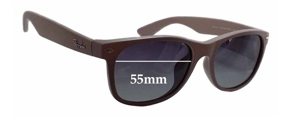 7958ca3a4e6 Ray Ban RB2132-F New Wayfarer Sunglass Replacement Lenses - 55mm wide