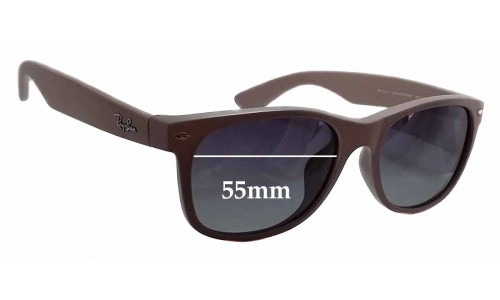 Sunglass Fix Sunglass Replacement Lenses for Ray Ban RB2132-F New Wayfarer - 55mm wide