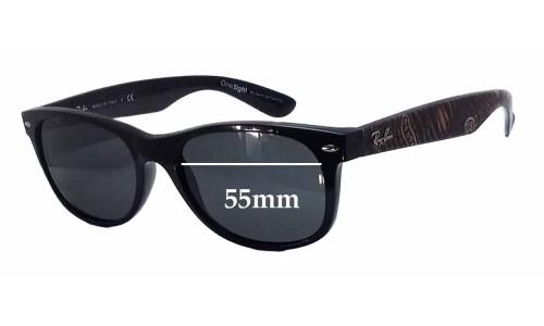Sunglass Fix Sunglass Replacement Lenses for Ray Ban RB2132 New Wayfarer One Sight By Saretta Fielding - 55mm wide