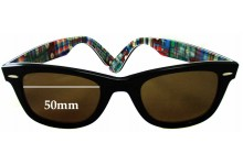 Sunglass Fix Sunglass Replacement Lenses for Ray Ban Wayfarer RB2140 Special Series 10 - 50mm Wide