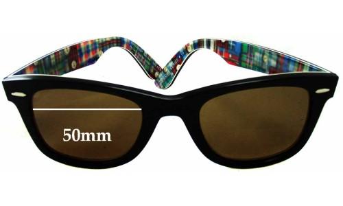 Sunglass Fix Sunglass Replacement Lenses for Ray Ban RB2140 Special Series 10 Wayfarer - 50mm wide