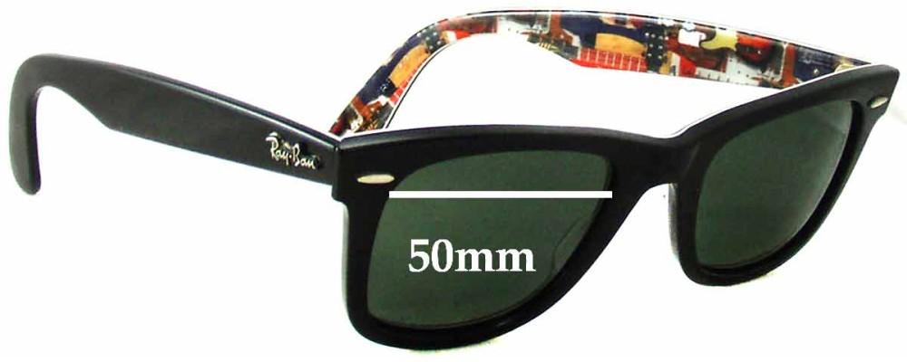 Sunglass Fix Sunglass Replacement Lenses for Ray Ban Wayfarer RB2140 Special Series 9 Music - 50mm Wide