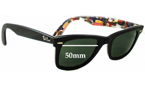 Sunglass Fix Sunglass Replacement Lenses for Ray Ban Wayfarer RB2140 Special Series 9 Music - 50mm Wide