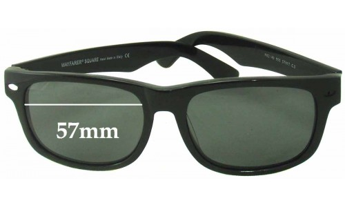 Sunglass Fix Sunglass Replacement Lenses for Ray Ban RB2140 Wayfarer Square - 57mm wide