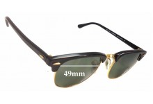 Sunglass Fix Sunglass Replacement Lenses for Ray Ban Clubmaster RB3016 - 49mm Wide