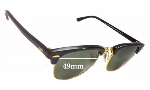 Sunglass Fix Sunglass Replacement Lenses for Ray Ban RB3016 Clubmaster - 49mm Wide