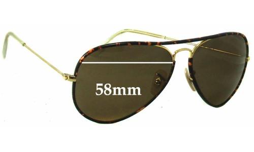 Sunglass Fix Sunglass Replacement Lenses for Ray Ban Aviators RB3025 J-M - 58mm across