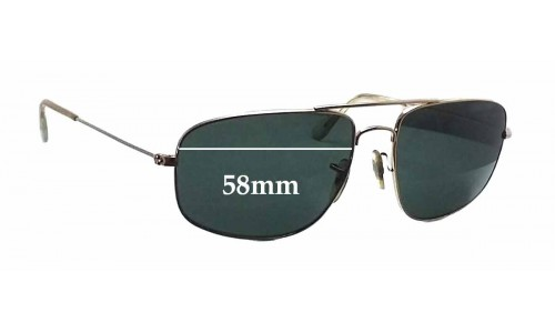 Sunglass Fix Sunglass Replacement Lenses for Ray Ban RB3145 - 58mm wide