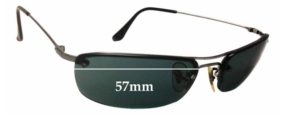 Sunglass Fix Sunglass Replacement Lenses for Ray Ban RB3156 - 57mm Wide x 30mm Tall