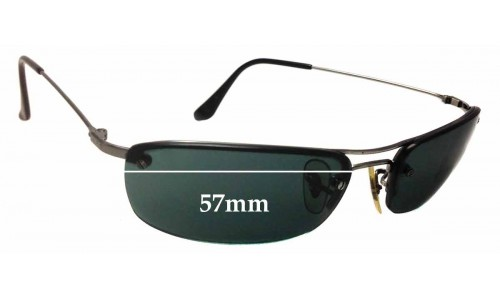 Sunglass Fix Sunglass Replacement Lenses for Ray Ban RB3156 - 57mm Wide - 30mm Tall