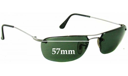 Sunglass Fix Sunglass Replacement Lenses for Ray Ban RB3156 - 57mm Wide x 35mm Tall