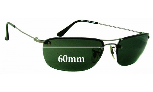 Sunglass Fix Sunglass Replacement Lenses for Ray Ban RB3156 - 60mm Wide (not 57mm)