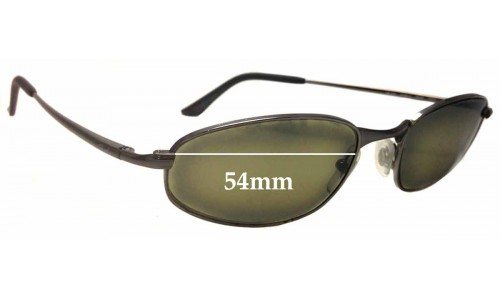 Sunglass Fix Sunglass Replacement Lenses for Ray Ban RB3163 Sleek O - 54mm Wide