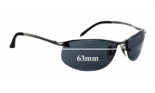 Sunglass Fix Sunglass Replacement Lenses for Ray Ban RB3179 - 63mm Wide
