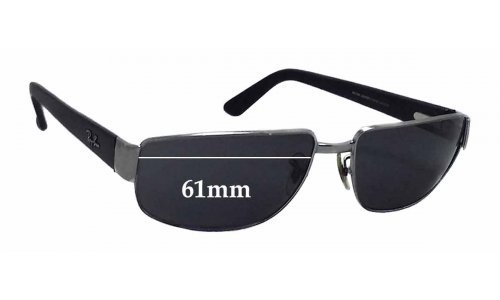 Sunglass Fix Sunglass Replacement Lenses for Ray Ban RB3189 Leather II - 61mm Wide