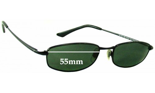 Sunglass Fix Sunglass Replacement Lenses for Ray Ban RB3198 New Sleek - 55mm wide