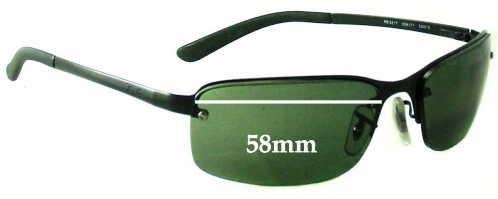 Sunglass Fix Sunglass Replacement Lenses for Ray Ban RB3217 - 58mm Wide  **These lenses have a smaller hole on the nose**