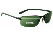 Sunglass Fix Sunglass Replacement Lenses for Ray Ban RB3217 - 58mm Wide