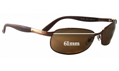 Sunglass Fix Sunglass Replacement Lenses for Ray Ban RB3245 - 61mm wide