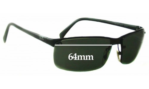 Sunglass Fix Sunglass Replacement Lenses for Ray Ban RB3276 - 64mm Wide