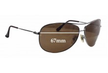 Sunglass Fix Sunglass Replacement Lenses for Ray Ban Aviator RB3293 - 67mm Wide