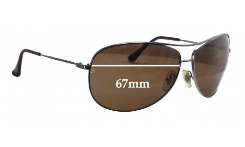 Sunglass Fix Sunglass Replacement Lenses for Ray Ban Aviators RB3293 - 67mm wide