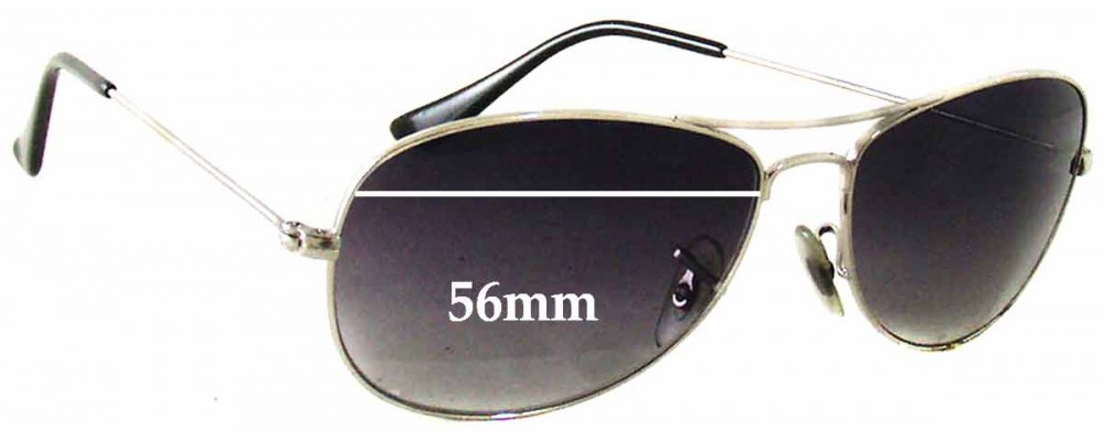 c4824cd65d8 Sunglass Fix Sunglass Replacement Lenses for Ray Ban Cockpit RB3362 - 56mm  wide