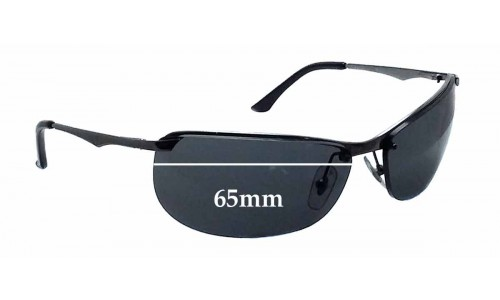 Sunglass Fix Sunglass Replacement Lenses for Ray Ban RB3390 Gaskets - 65mm wide *These lenses are with the 2 holes at the same size*