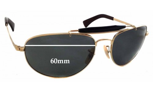 Sunglass Fix Sunglass Replacement Lenses for Ray Ban RB3423 - 60mm Wide - 44mm Tall