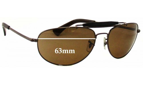 Sunglass Fix Sunglass Replacement Lenses for Ray Ban RB3423 - 63mm across