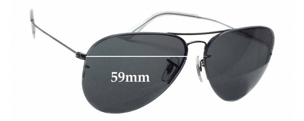 d8f602ee857 Sunglass Fix Sunglass Replacement Lenses for Ray Ban RB3460 - 59mm wide