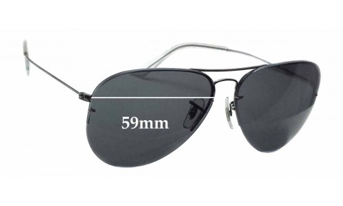 Sunglass Fix Sunglass Replacement Lenses for Ray Ban RB3460 - 59mm Wide