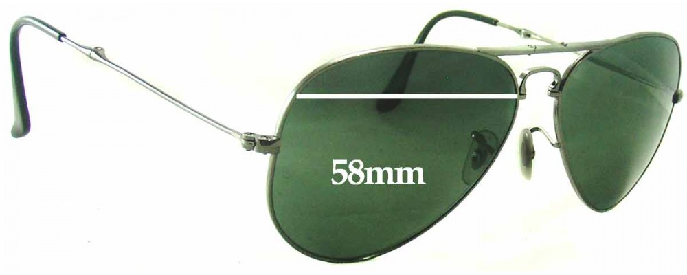 4b7f6d070af Sunglass Fix Sunglass Replacement Lenses for Ray Ban RB3479 Folding Aviator  - 58mm Wide