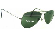 Sunglass Fix Sunglass Replacement Lenses for Ray Ban Aviator RB3479 - 58mm Wide