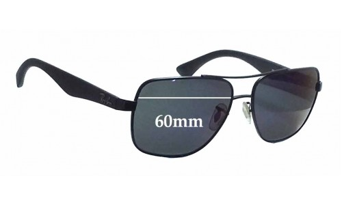 Sunglass Fix Sunglass Replacement Lenses for Ray Ban RB3483 - 60mm Wide